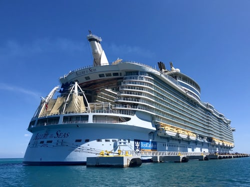 visiting resort town on largest cruise ship