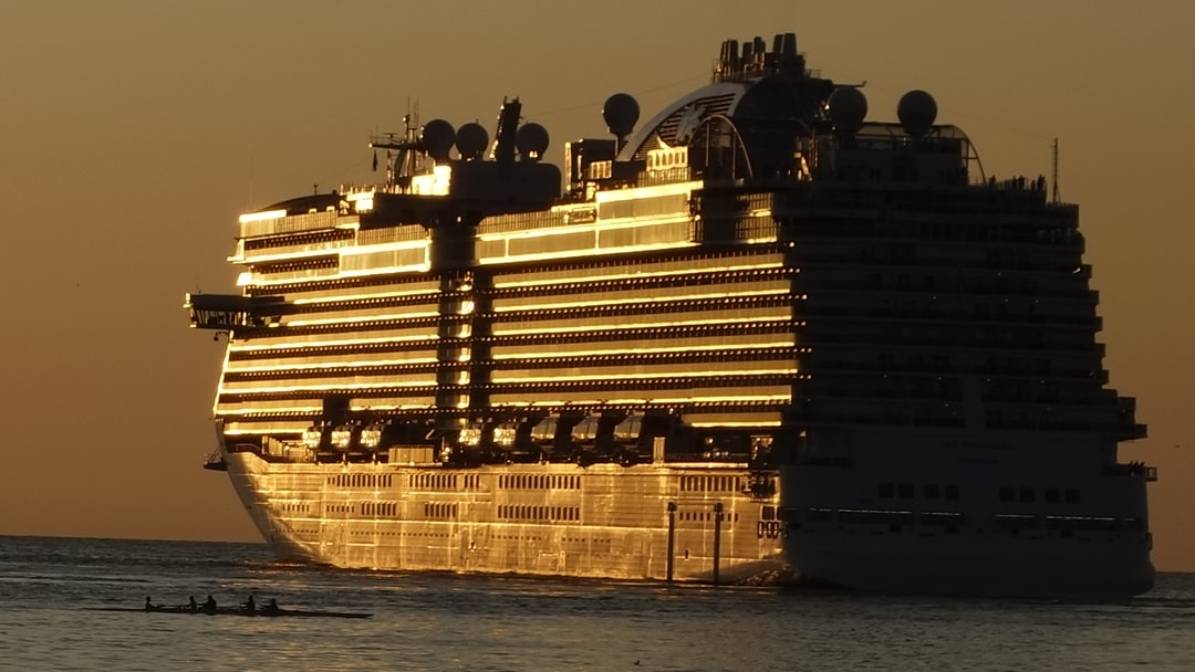 A large ship in a body of water